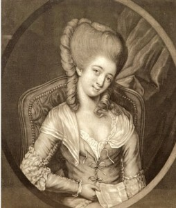 Miss Montague, Miss Fanny Murray by Henry Robert Morland, Miss Kitty Fisher, and another portrait – a woman's image could be bought and sold, too; historian Hallie Rubenhold at the launch of Portrait of a Lady in Bath, below Image from the Western Press
